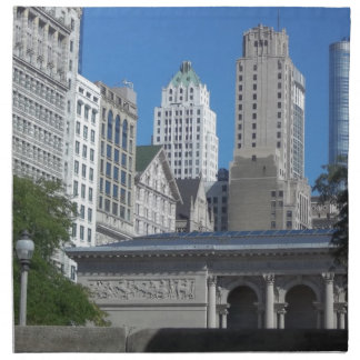 Chicago cityscape napkin