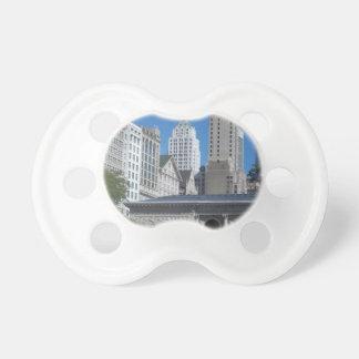 Chicago cityscape pacifier
