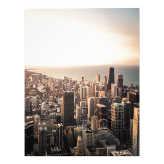 Chicago cityscape personalized letterhead