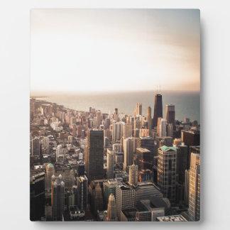 Chicago cityscape plaque