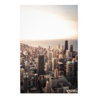 Chicago cityscape stationery