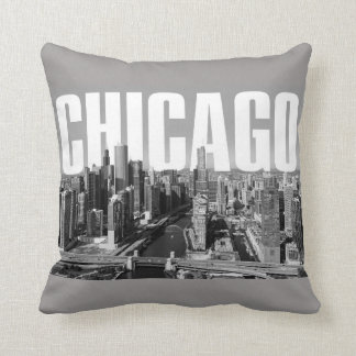 Chicago Cityscape Throw Pillow