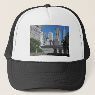 Chicago cityscape trucker hat