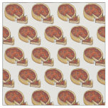 Chicago Deep Dish Pepperoni Pizza Slice Foodie Pie Fabric