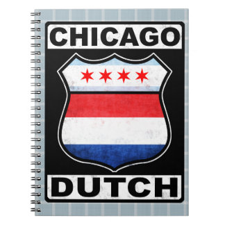 Chicago Dutch American Shield Notepad Spiral Notebook