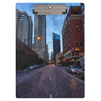 Chicago Evening Drive Clipboard