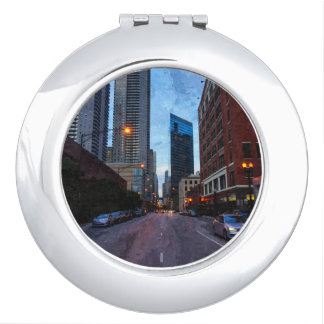Chicago Evening Drive Travel Mirrors