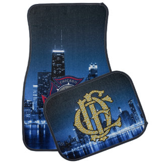Chicago Fire With Skyline Car Mat