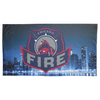 Chicago Fire With Skyline Pillowcase