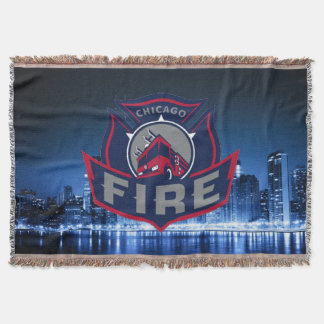 Chicago Fire With Skyline Throw