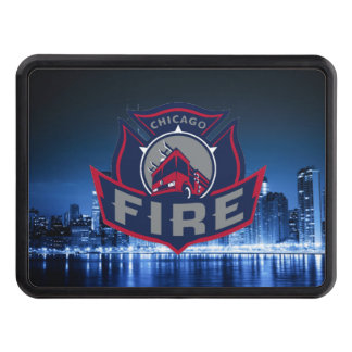 Chicago Fire With Skyline Tow Hitch Covers
