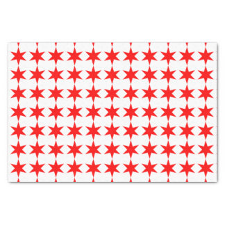 Chicago Flag 6-Pointed Star Tissue Paper