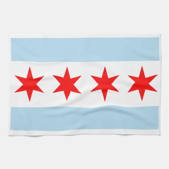 Chicago Flag American MoJo Kitchen Towel
