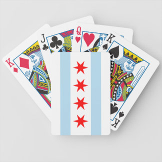 Chicago Flag Bicycle® Playing Cards