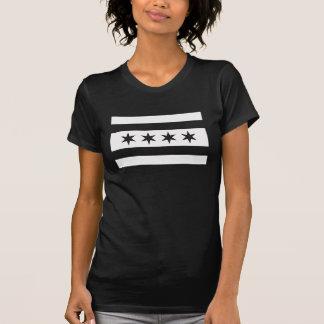 Chicago Flag Black & White Swat Team  t shirt