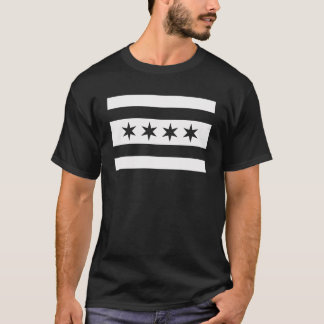 Chicago Flag Black & White Swat Team  t shirt