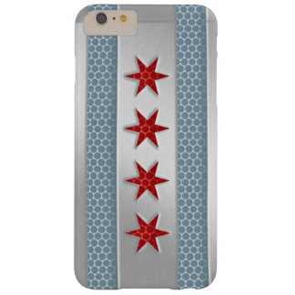 Chicago Flag Brushed Metal Look Barely There iPhone 6 Plus Case