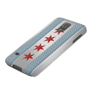 Chicago Flag Brushed Metal Look Galaxy S5 Case