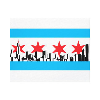 Chicago Flag Canvas Print