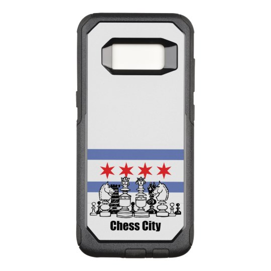 Chicago Flag & Chess Board OtterBox Commuter Samsung Galaxy S8 Case