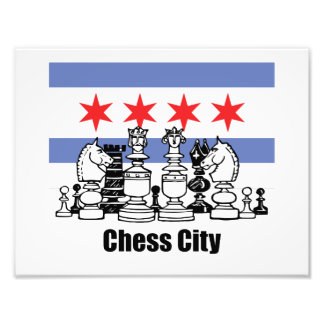 Chicago Flag & Chess Board Photo Art