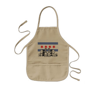 Chicago Flag Chess Kids Apron
