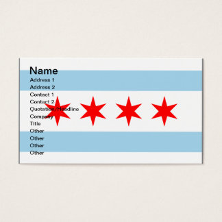 Chicago Flag customizable business calling cards