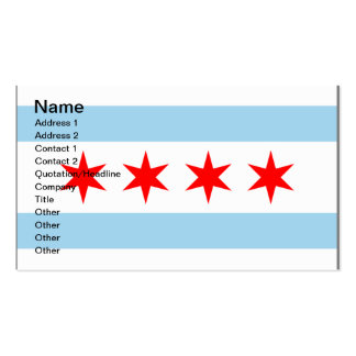 Chicago Flag customizable business calling cards Business Card