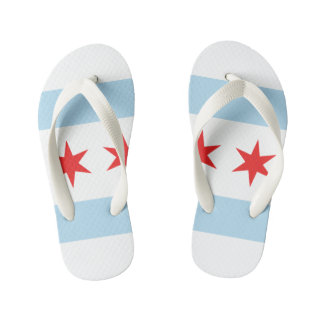 Chicago Flag Flip Flops