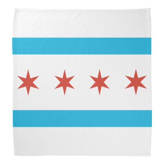 Chicago Flag Head Kerchief