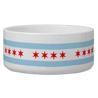 Chicago Flag, Illinois Flag Pet Bowl