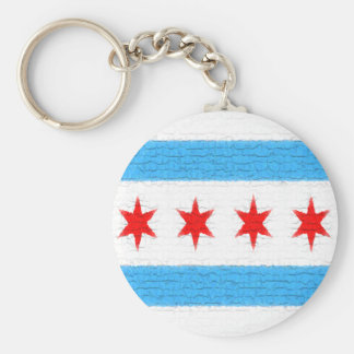 Chicago Flag Keychain