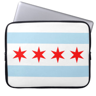 Chicago Flag Laptop Sleeves