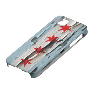 Chicago Flag Paint Peel iPhone 5 Cover