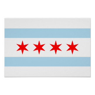 Chicago Flag Poster