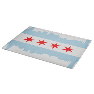 Chicago Flag Skyline Boards