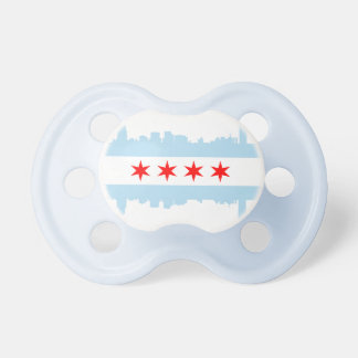 Chicago Flag Skyline Pacifier