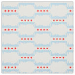 Chicago Flag Skyline Pattern Fabric