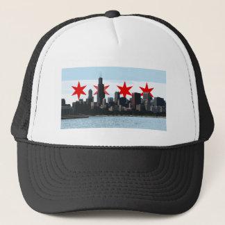 Chicago Flag Skyline Trucker Hat