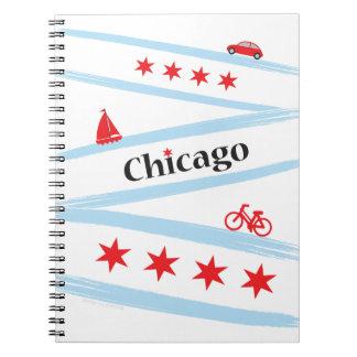 Chicago Flag Spiral Notebook
