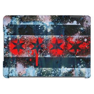 Chicago Flag Spray Paint Case For iPad Air
