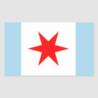 Chicago Flag Star and Stripes Stickers