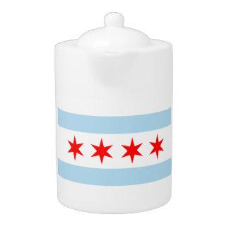 Chicago flag teapot!