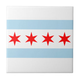 Chicago Flag Tile Coaster