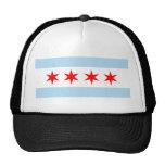 Chicago flag trucker hat