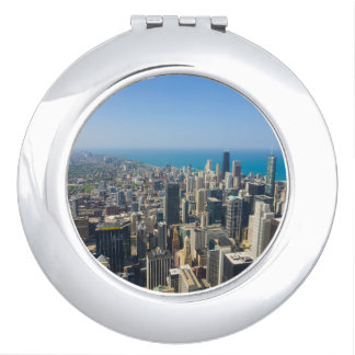 Chicago From Above Compact Mirror