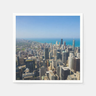 Chicago From Above Disposable Napkins