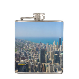 Chicago From Above Hip Flask