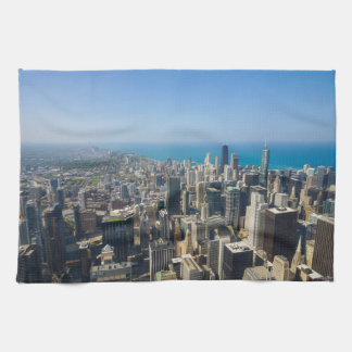 Chicago From Above Kitchen Towels