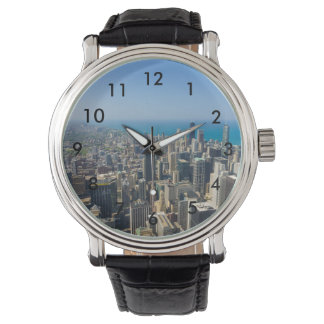 Chicago From Above Wristwatch